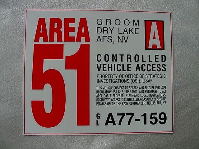 Alien Gifts Area 51 Roswell Security Tags Maps Guide
